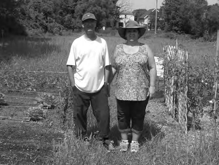 Carole et Mario aux jardins (Photo par Richard-Pierre Piffartti)