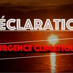 Déclaration d'urgence climatique