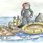 Le père Noël au bord de la crise de nerfs